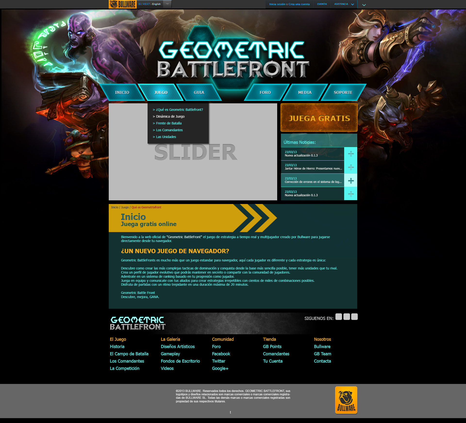 Geometric Battlefron, online videogame; Personal Project